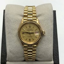 Rolex Oyster Perpetual Lady Date pre-owned 26mm Yellow gold