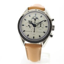 Omega Speedmaster Professional Moonwatch Moonphase Staal 42mm Wit Geen cijfers