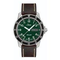 Sinn 104 Steel 41mm Green Arabic numerals