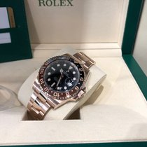 Rolex GMT-Master II Or rose 40mm Noir Sans chiffres France, Paris