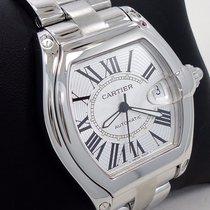 Cartier Roadster Steel 37mm Silver Roman numerals