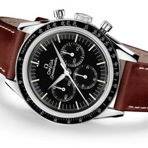 歐米茄 Speedmaster Professional Moonwatch 鋼 39.7mm 黑色 無數字