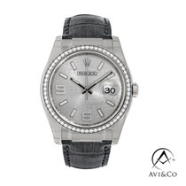Rolex Datejust White gold 36mm Silver No numerals United States of America, New York, New York