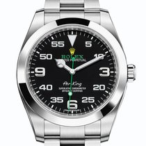 Rolex Air King Steel 40mm Black Arabic numerals United Kingdom