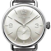 Bell & Ross Silber Handaufzug Silber Arabisch 41mm neu Vintage