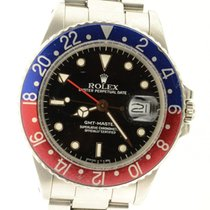 Rolex Gmt Master 16750 Pepsi Steel 40mm Mens Watch On Oyster...