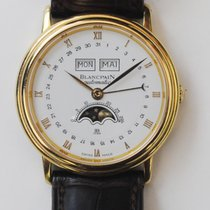 Blancpain VILLERET 34 mm  6595-1418A58 phase de lune  FULL SET