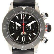 Jaeger-LeCoultre Χρονογράφο 46mm Αυτόματη 2010 μεταχειρισμένο Master Compressor Diving Chronograph GMT Navy SEALs Μαύρο