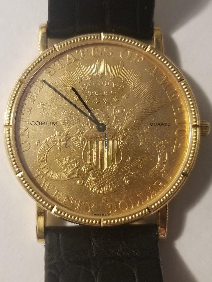 Corum 18k yellow gold Corum $20 double eagle wristwatch