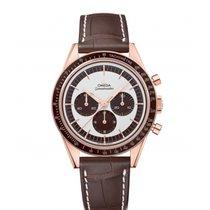Omega Oro rosado Cuerda manual Blanco Sin cifras 39.7mm nuevo Speedmaster Professional Moonwatch