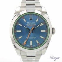 Rolex Milgauss tweedehands 40mm Blauw Staal
