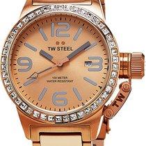 TW 스틸 금/스틸 쿼츠 TW305 신규