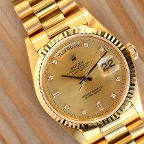 Rolex Day-Date 36 Gult guld 36mm Guld Ingen tal