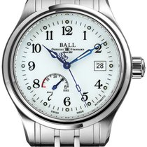 Ball Trainmaster Steel 41mm White Arabic numerals United States of America, California, Moorpark