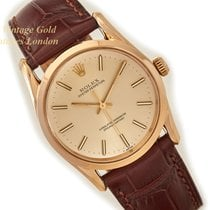Rolex Oyster Perpetual Yellow gold 34mm Champagne