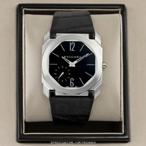 Bulgari Platinum Manual winding Black 40mm pre-owned Octo