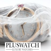 Bulgari Lucea Złoto różowe 28mm Masa perłowa