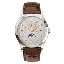 Patek Philippe Grand Complications Platinum Brown Strap Watch...