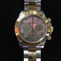Rolex Two Tone Daytona w/ Mother of Pearl Roman Numeral Dial