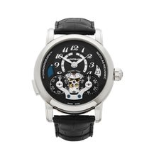 Montblanc Nicolas Rieussec Home Time Stainless Steel Men's...