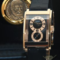 Rolex Cellini Prince 18k Rose Gold Black Sunburst Dial Manual...