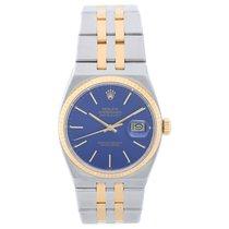Rolex Oysterquartz Datejust 17013 2-Tone Men's Watch Blue Dial