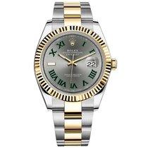 Rolex Datejust Oro/Acciaio 41mm Grigio Romano
