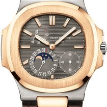 Patek Philippe Nautilus Rose gold 40mm Grey No numerals United States of America, Iowa, Des Moines