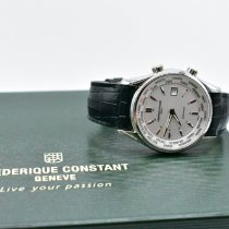 Frederique Constant Stål 43mm Kvarts Frederique Constant Index WorldTimer FC-255S6B6 ny