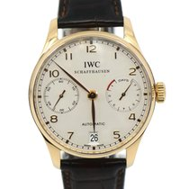 IWC Rose gold Automatic Silver Arabic numerals 42.3mm pre-owned Portuguese Automatic
