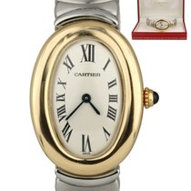 Cartier Baignoire Gold/Steel 23mm Champagne Roman numerals United States of America, New York, Lynbrook