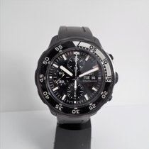IWC Aquatimer Chronograph Steel 45mm Black No numerals