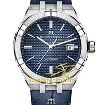 Maurice Lacroix AIKON AI6008-SS001-430-1 Maurice Lacroix AIKON Blu Pelle 42mm 2020 nouveau