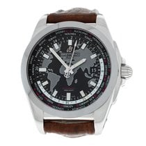 Breitling Galactic Unitime Steel 44mm Black Arabic numerals United States of America, New York, New York
