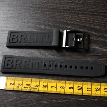 Breitling 22mm black new rubber kautschuk strap and black...
