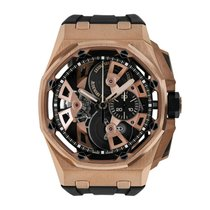Audemars Piguet Royal Oak Offshore Tourbillon Chronograph Rose gold 45mm Transparent No numerals