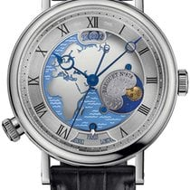 Breguet new Automatic Skeletonized Tempered blue hands Platinum