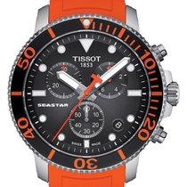 Tissot Seastar 1000 Zeljezo 45.5mm Crn Bez brojeva