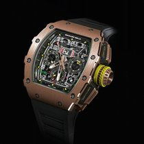 Richard Mille RM 011 pre-owned 49.94mm Transparent Chronograph Flyback Date Rubber