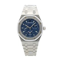 Audemars Piguet Royal Oak Dual Time Сталь 36mm Синий Без цифр