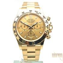 Rolex neu Automatik Kleine Sekunde Leuchtzeiger Chronometer Verschraubte Krone Verschraubte Drücker Leuchtindizes 40mm Gelbgold Saphirglas