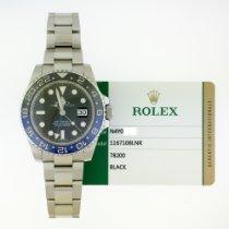 Rolex Kerámia Automata Fekete Számjegyek nélkül 40mm használt GMT-Master II