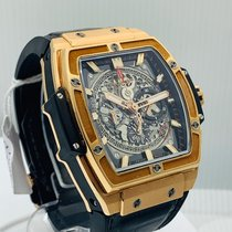 Hublot Spirit of Big Bang pre-owned 51mm Transparent Chronograph Crocodile skin