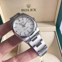 Rolex Oyster Perpetual 34 Steel 34mm White Arabic numerals