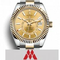Rolex Sky-Dweller Gold/Steel 42mm Gold No numerals