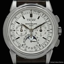 Patek Philippe Perpetual Calendar Chronograph pre-owned 40mm Moon phase Chronograph Perpetual calendar Leather