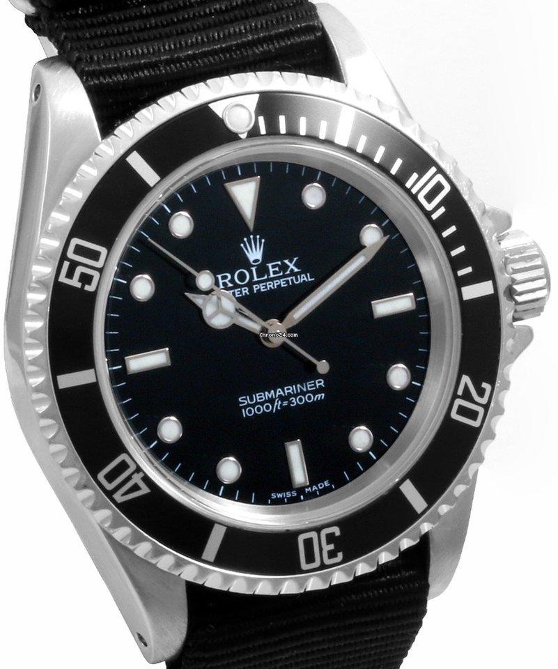 Rolex 1990\u0027s Steel 40mm No,Date Submariner Black NATO Strap