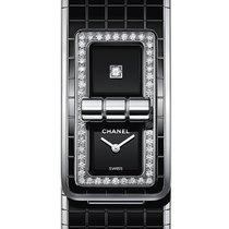 Chanel Steel Quartz Black 38.1mm new