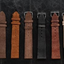 CENTRAL TIME Leather and Suede Straps