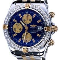 Breitling Chronomat Evolution Pilotstrap Gold Steel Diamonds...